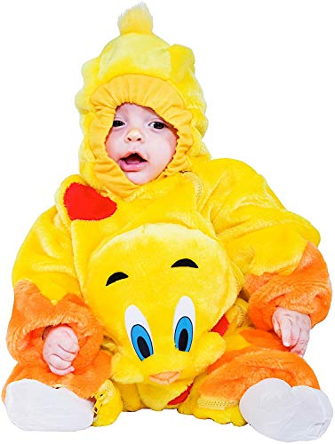 Gatto Kostüm Carnevale - Carnevale Venizano CAV88384-M - Plüschkostüm Piccolo CANARINO - Alter: 3-12 Monate - Größe: M