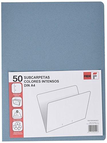 Elba Fade–Pack von einfachen 50Aktendeckel recycelt, A4, blau