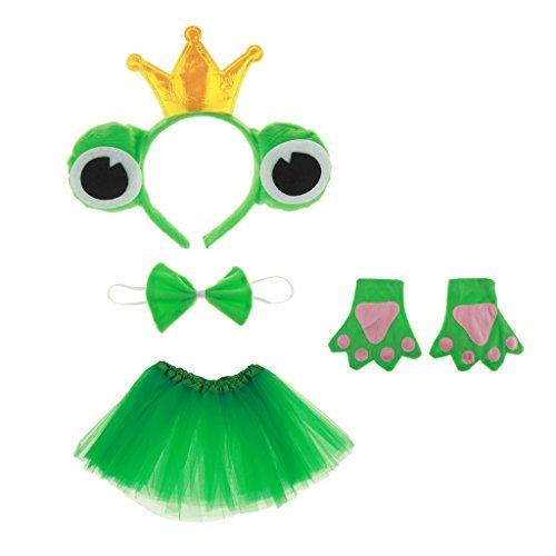 schkönig Kostüm Set - Haarreif, Fliege, Handschuhe, Tutu, Geschenk zum Geburtstag oder Weihnachten Cosplay Party Kostüm (Fliegen Kostüm-kind)