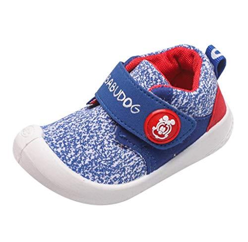 Jimmackey Bambino Scarpe Primi Passi Bimba Suole Morbide Prima Infanzia Sneakers Scarpine Scarpe da Trekking Scarpe Bambino