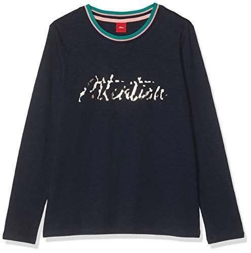 s.Oliver Mädchen 66.908.31.8591 T-Shirt, Blau (Dark Blue 5952), 164 (Herstellergröße: L/REG)