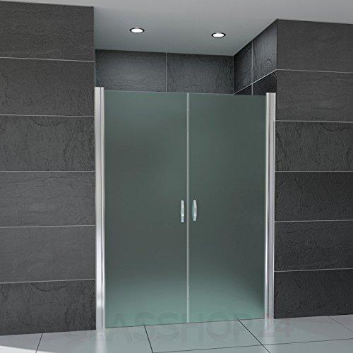 Hochwertige Design Mattglas-Duschabtrennung / Nischendusche mit Lotuseffekt | 90 x 195 cm - 2