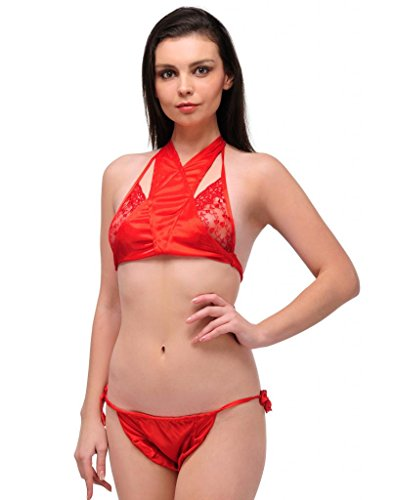 OLEVA Casual Set of 2 Lingerie Set OLG_BP8_Orange  available at amazon for Rs.399