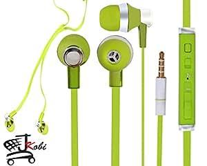 Jkobi Designer In Ear Bud Handsfree Headset Earphones With Mic Compatible For iBall Andi Cobalt Solus 2 -Green