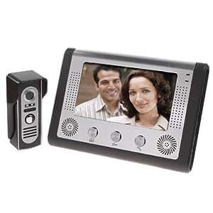 BW 7 pollici Videocitofono Citofono del Campanello Kit 1 Telecamera + 1 Monitore di Visione Notturna