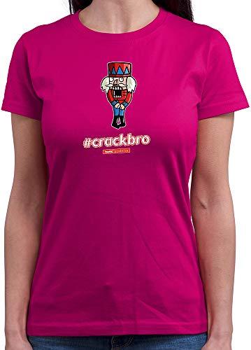 HARIZ  Damen T-Shirt Rundhals Pixbros Crackbro Xmas Weihnachten Witzig Lustig Winter Plus Geschenkkarte Pink L