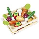 Janod - Set de 12 legumbres de madera (J05611)