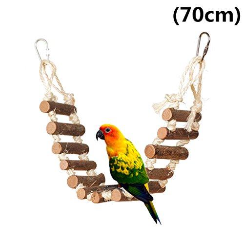 Juguete Para Pájaros Canarios Periquitos Agapornis Cuerda Madera 4 Colgantes