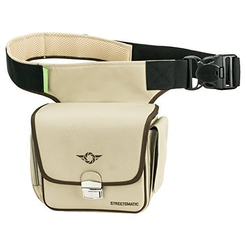 Cosyspeed Kameratasche mit Hüftgürtel Camslinger Streetomatic Fototasche für Kompakt-/Systemkameras + zusätzliches Objektiv khaki Systemkameratasche