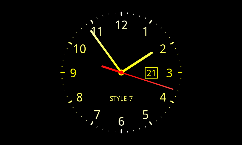 Analog Clock Live Wallpaper 7 Amazoncouk Appstore For Android