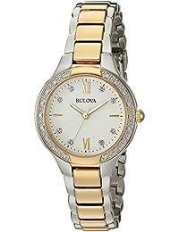 nueva llegada zapatos de otoño mejores ofertas en Amazon.es: reloj bulova mujer - Blanco / Relojes de pulsera ...
