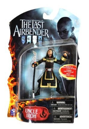 Spin Master Year 2010 Paramount Movie Series Avatar The Last Airbender Exclusive 4 Inch Tall Highly Articulated Action Figure - UNCLE IROH with Halberd (Kwan Dao) by The Last Airbender (Avatar Last Airbender Spielzeug)