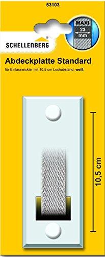 Schellenberg Abdeckplatte Lochabst 10,5, weiß, 53103