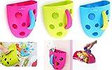 coolbitz Badespielzeug Holder Organizer Platz für viele Badewanne Spielzeug, Delights Kinder, Scoop, Abspülen und Ablauf, Saugnäpfe und selbst Kleben Haken