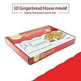 wuudi 3D Edelstahl Kekse, Weihnachten Lebkuchenhaus Modell, DIY handgefertigt Brötchen Backen Form für, so dreidimensionale Biscuit House 100/Set