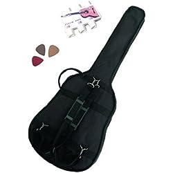 PACK 3 Accessoires Guitare Folk 4/4 (Housse, accordeur.) ...