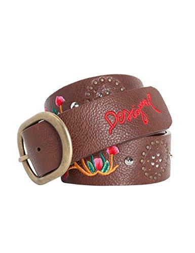 Desigual CINT_BASIC HAPPY BAZAR-Cintura Donna    Marron (Chocofresa) 90 cm