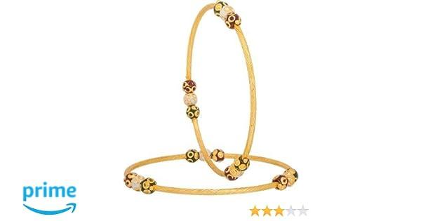 Luxor White Alloy Bangle Set For Women Amazonin Jewellery