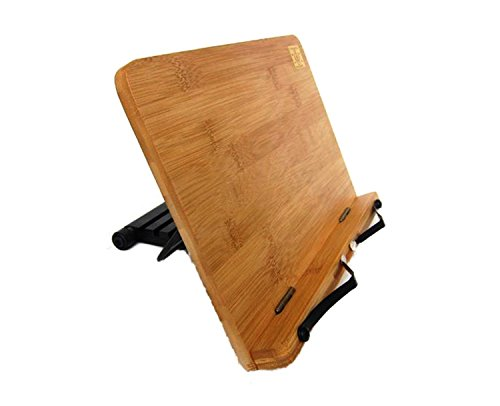 Di Grazia Wooden Bamboo Adjustable Portable Reading Stand/Book Stand Document Holder (Laptop / iPad / Book / Cookbook / Music Stand / Holder)