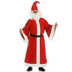 Carnival Toys 27005-Abrigo de Papá Noel con cinturón, L XL, Rojo