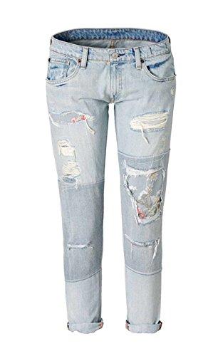 DENIM & Give - RALPH LAUREN Marken-Jeans hellblau used Größe 30