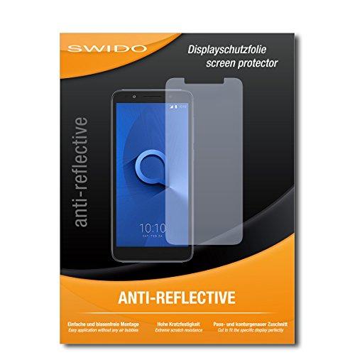 SWIDO Bildschirmschutz für Alcatel 1X [4 Stück] Anti-Reflex MATT Entspiegelnd, Hoher Härtegrad, Schutz vor Kratzer/Glasfolie, Schutzfolie, Bildschirmschutzfolie, Panzerglas Folie