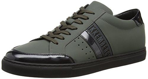 Bikkembergs Soccer Capsule 514 L.Shoe M Rubber Leather, Sneaker, Uomo, Verde (Military Green), 40
