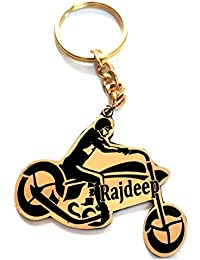 Smart Galleria Key Chain For Bike With Customised Name Engraved On Metal