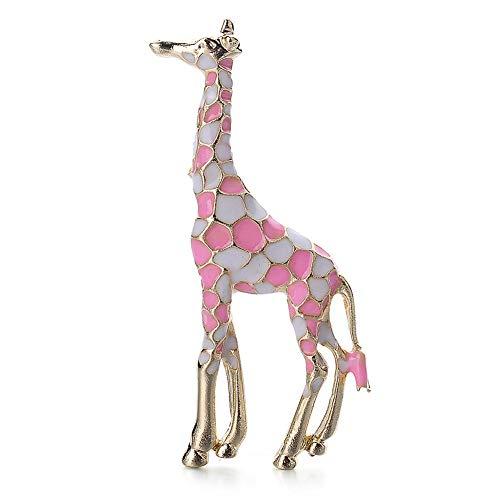Ototon Brosche Damen Giraffe Mehrfarbig Kleidung Schmuck Dekoration Zubehör für Damen Geburtstag Party Geschenk Rosa (Katze Im Hut Frau Kostüme)