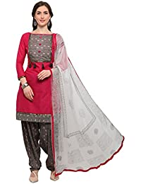 6705bcdefa EthnicJunction Women's Dress Material (EJ1180-88008_Barbie Pink_Free Size)