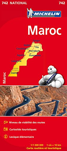 Carte NATIONAL Maroc Michelin par Michelin