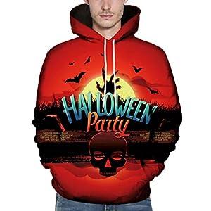 EUZeo 3D-Druck Kapuzenpullover Unisex Halloween Gedruckt Hoodies Sweatshirts Kapuzenjacke Pulli Paare Kapuzensweatshirts Kapuzenpulli Pullover
