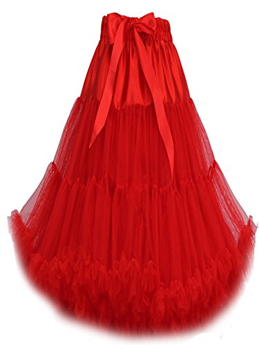 FOLOBE Frauen-Ballettröckchen-Kostüm-Ballett-Tanz mehrschichtiger geschwollener Rock-erwachsener luxuriöser weicher Petticoat 60cm / 23.6 (Mädchen 1950's Für Kostüme)