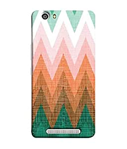 Nextgen Designer Mobile Skin for Gionee Marathon M5 lite (Heart Beats Light Shades orange Green Ups and downs)