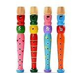 Elecenty Holz Trompete Spielzeug,Holzspielzeug Unisex Kinderspielzeug Lernspielzeug Spielzeug Pädagogisches Spielzeug Geschenk für Kinder (13 cm, Zufällige Farbe)
