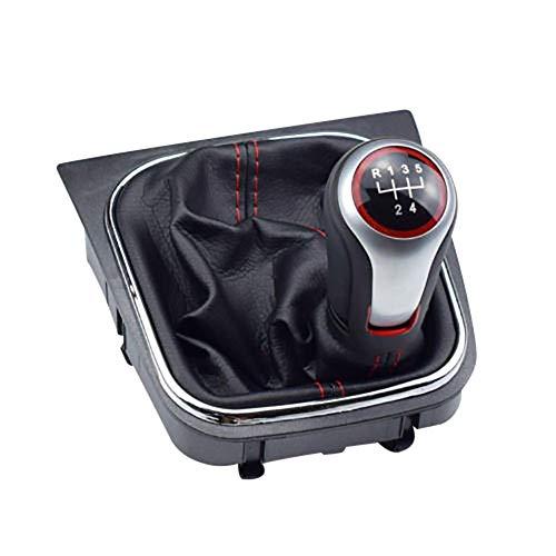 TRULIL 5 Kit de Bouton Soufflet de Soufflet de Voiture de Changement de Vitesse Manuel Auto Gear Shifter Boot Housse de Remplacement avec Housse Anti-poussière pour VW Volkswagen Golf 6 MK5 MK6