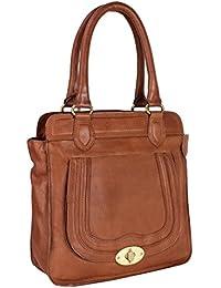 Aditi Wasan Genuine Leather Brown Ladies Handbag