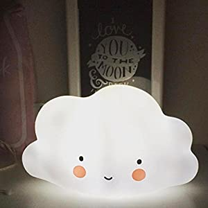 Culater® Cute White Cloud Shape Night Light For Kids Room Light Corridor Lamp Home Decor