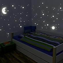 Wandkings - Adhesivos de pared luminosos, fluorescentes y brillantes en la oscuridad