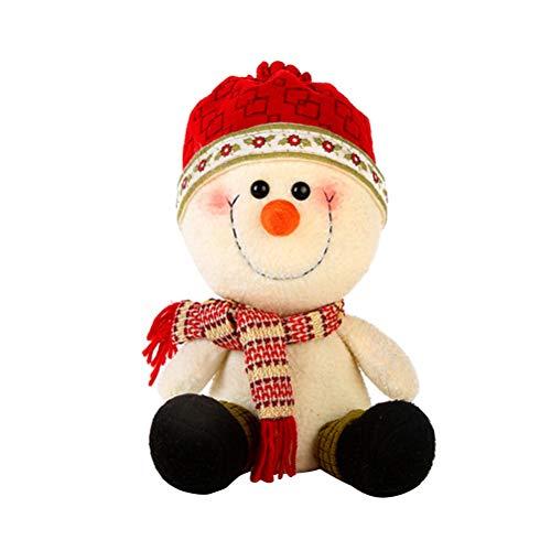 PRETYZOOM Nette Weihnachten Tabletop Ornamente Cartoon Schneemann Puppe Dekoration für Home Office Urlaub Party (Red Hat) -