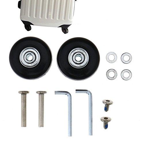 SING F LTD 2 x / 4 x Koffer-Ersatz-Räder, Gummi, Deluxe-Reparatur, Außendurchmesser 45 mm