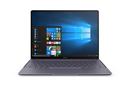"Huawei Matebook X - Ordenador portátil ultrafino de 13.3"" 2K IPS (Procesador Intel Core i5 7200U, 8 GB RAM, 256 GB SSD, Windows 10 Home), color Gris - Teclado QWERTY español"