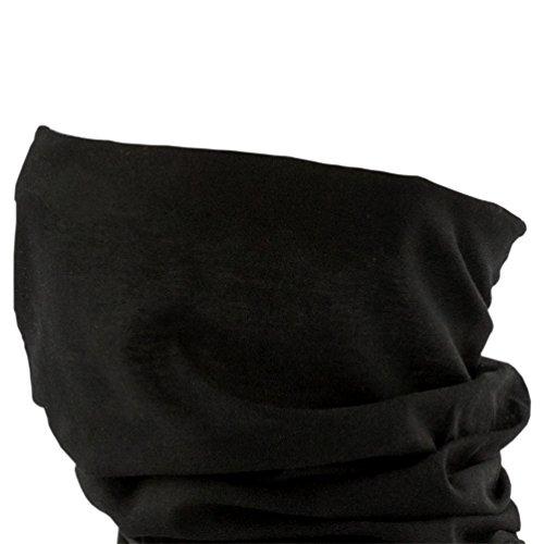 Oblique Unique Damen/Herren Mikrofaser Multifunktionstuch K-150 (Pure Black)