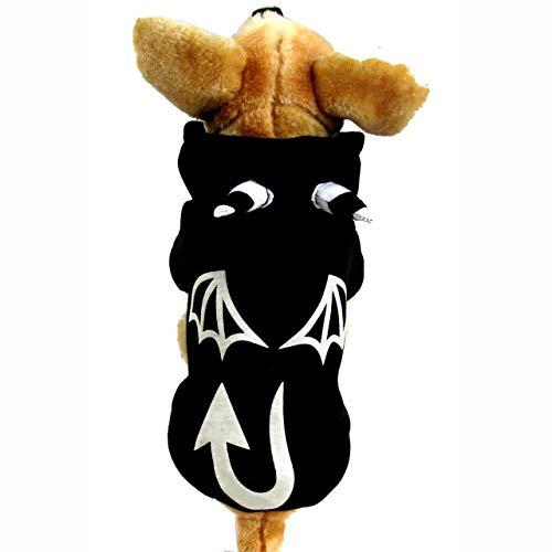 (LLYU Hundekatze-Teufelkostüm, lustiges Haustierkostüm cosplay, warme Kleidungs-Tierschwarzkleidung des Welpenwolle Hoodie (größe : S))