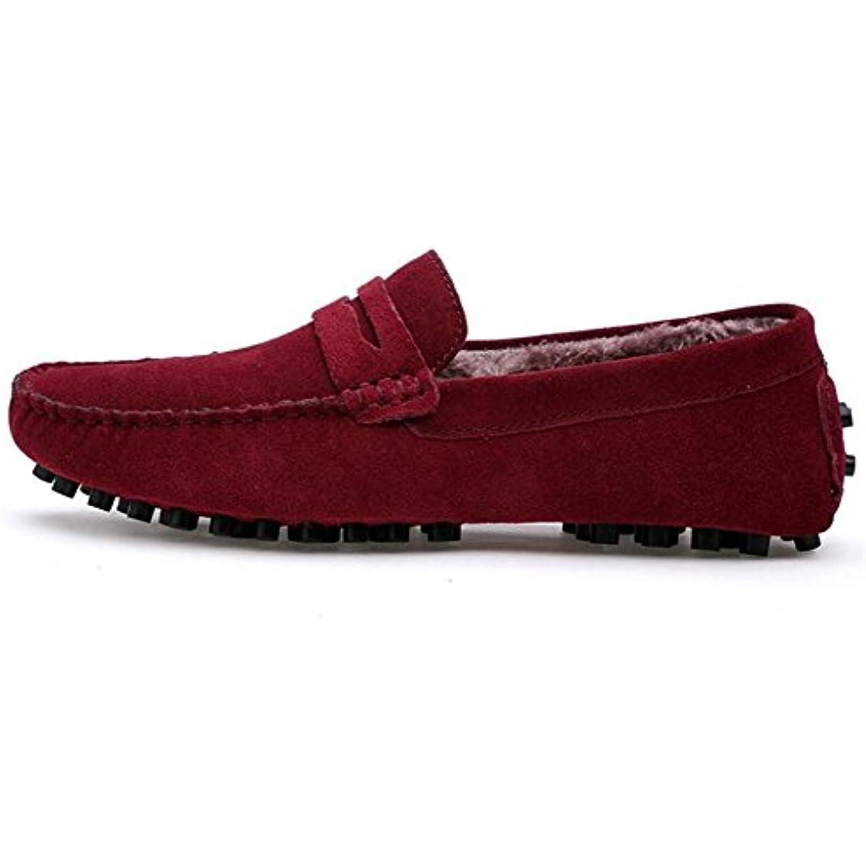 Hommes Chaussures Daim Fourrure Mocassins Décontractés Doux Faux Fourrure Daim Doublure Taille 38To 44 - B01M5HI9QG - 4a3a83