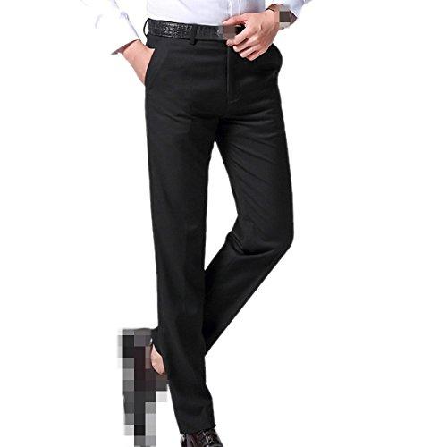 Männlich Wirtschaft Anzughose Fit Presse Frühling Herbst Hosen Freizeit Kleidung Männer,Black-4XL (Männliche Hose)