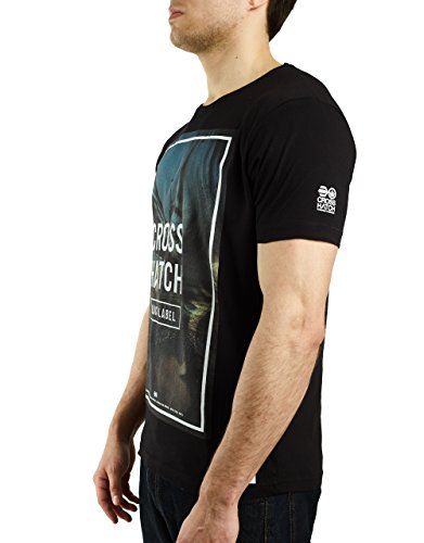 CROSSHATCH Herren T-Shirt BOARDWALK Sommer 2017 Schwarz / Black