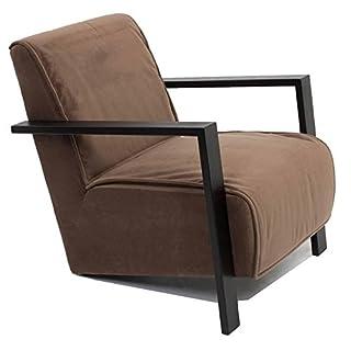 Inside Sessel Modern Uma Stoff Velours Braun