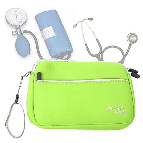 Trousse d'infirmière en vert pour transporter vos accessoires médicaux (tensiomètre,