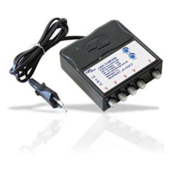 metronic 432187  Amplificatore TV da interno con filro LTE 1 ingresso/4uscite: Amazon ...